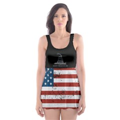 Gadsden Flag Don t Tread On Me Skater Dress Swimsuit by snek