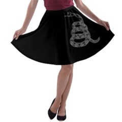 Gadsden Flag Don t Tread On Me A Line Skater Skirt by snek