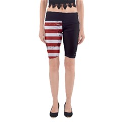 Gadsden Flag Don t Tread On Me Yoga Cropped Leggings by snek