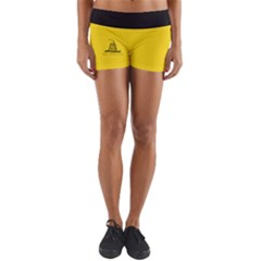 Gadsden Flag Don t Tread On Me Yoga Shorts by snek