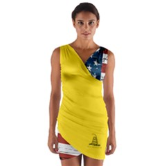 Gadsden Flag Don t Tread On Me Wrap Front Bodycon Dress by snek