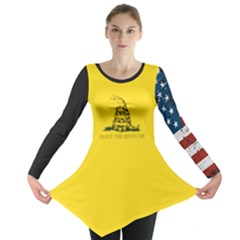 Gadsden Flag Don t Tread On Me Long Sleeve Tunic  by snek