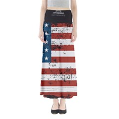 Gadsden Flag Don t Tread On Me Full Length Maxi Skirt by snek