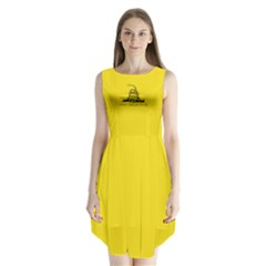 Gadsden Flag Don t Tread On Me Sleeveless Chiffon Dress   by MAGA