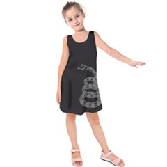 Gadsden Flag Don t Tread On Me Kids  Sleeveless Dress by snek