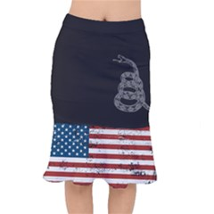 Gadsden Flag Don t Tread On Me Mermaid Skirt by snek