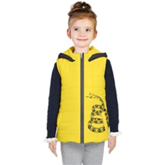 Gadsden Flag Don t Tread On Me Kid s Hooded Puffer Vest by snek