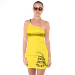 Gadsden Flag Don t Tread On Me One Soulder Bodycon Dress by snek