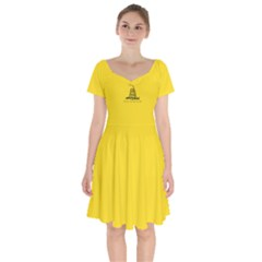 Gadsden Flag Don t Tread On Me Short Sleeve Bardot Dress by snek