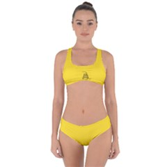 Gadsden Flag Don t Tread On Me Criss Cross Bikini Set by snek