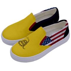 Gadsden Flag Don t Tread On Me Kids  Canvas Slip Ons by snek