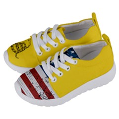 Gadsden Flag Don t Tread On Me Kids  Lightweight Sports Shoes by snek