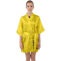 Gadsden Flag Don t Tread On Me Quarter Sleeve Kimono Robe by MAGA