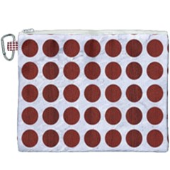 Circles1 White Marble & Red Wood (r) Canvas Cosmetic Bag (xxxl) by trendistuff