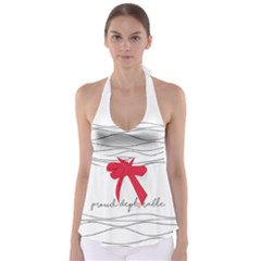 Proud Deplorable Maga Women For Trump With Heart Babydoll Tankini Top by snek