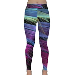 Abstract Satin Classic Yoga Leggings by Sapixe