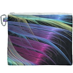 Abstract Satin Canvas Cosmetic Bag (xxxl) by Sapixe