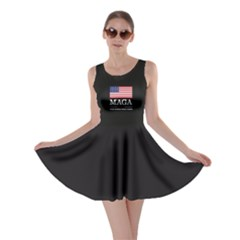 Maga Make America Great Again With Us Flag On Black Skater Dress by snek