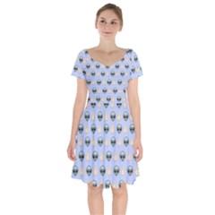 Alien Pattern Short Sleeve Bardot Dress by Sapixe