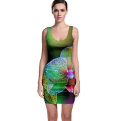 Alien Orchids Floral Art Photograph Bodycon Dress