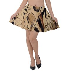 Animal Fabric Patterns Velvet Skater Skirt by Sapixe
