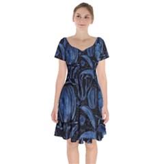 Art And Light Dorothy Short Sleeve Bardot Dress by Sapixe