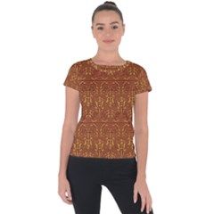 Art Abstract Pattern Short Sleeve Sports Top  by Sapixe