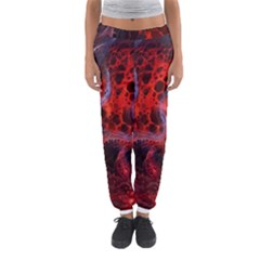 Art Space Abstract Red Line Women s Jogger Sweatpants