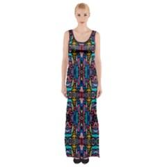 Colorful 23 1 Maxi Thigh Split Dress by ArtworkByPatrick