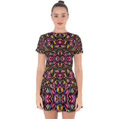 Artwork By Patrick-colorful-24 1 Drop Hem Mini Chiffon Dress by ArtworkByPatrick