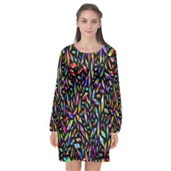 Colorful-25 Long Sleeve Chiffon Shift Dress  by ArtworkByPatrick