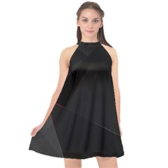 Black Light Dark Figures Halter Neckline Chiffon Dress  by Sapixe
