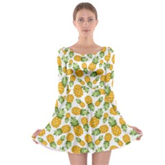 Pineapple Pattern Long Sleeve Skater Dress by goljakoff