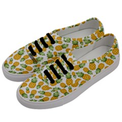 Pineapple Pattern Men s Classic Low Top Sneakers by goljakoff