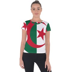 Roundel Of Algeria Air Force Short Sleeve Sports Top  by abbeyz71