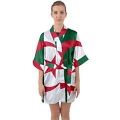Roundel Of Algeria Air Force Quarter Sleeve Kimono Robe by abbeyz71