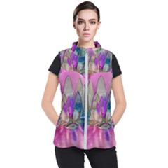 Crystal Flower Women s Puffer Vest by Sapixe