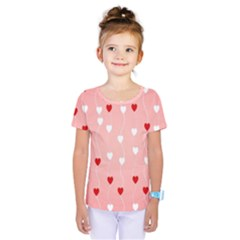 Heart Shape Background Love Kids  One Piece Tee