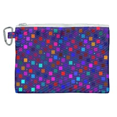 Squares Square Background Abstract Canvas Cosmetic Bag (xl)