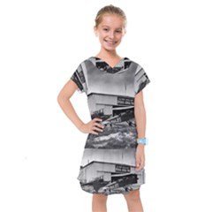 Omaha Airfield Airplain Hangar Kids  Drop Waist Dress by Nexatart