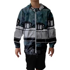 Vintage Car Automobile Auburn Hooded Wind Breaker (kids) by Nexatart