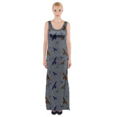 Falcons Maxi Thigh Split Dress by greenthanet