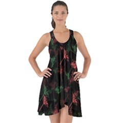 Fennel Show Some Back Chiffon Dress by greenthanet