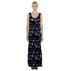 Ravens Maxi Thigh Split Dress by greenthanet