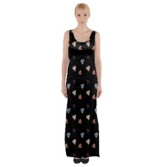 Crystals Maxi Thigh Split Dress by greenthanet