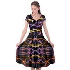 Wallpaper Abstract Art Light Cap Sleeve Wrap Front Dress by Nexatart
