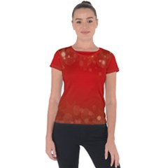 Background Abstract Christmas Short Sleeve Sports Top
