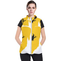 Castle Cat Evil Female Fictiona Women s Puffer Vest by Nexatart