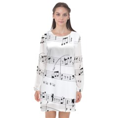 Abuse Background Monochrome My Bits Long Sleeve Chiffon Shift Dress  by Nexatart
