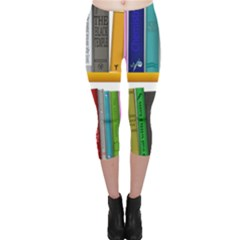 Shelf Books Library Reading Capri Leggings
